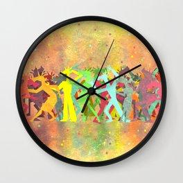 Conga Line Unicorns Wall Clock
