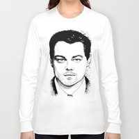 leonardo dicaprio Long Sleeve T-shirts featuring Leonardo DiCaprio by beecharly