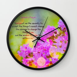 Serenity Prayer - II Wall Clock