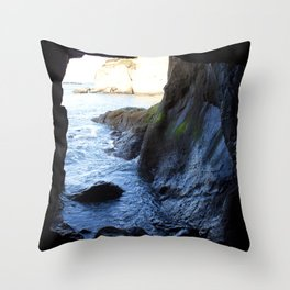 Ocean Cave Throw Pillow