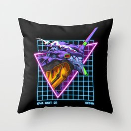 Eva Unit 01 Throw Pillow