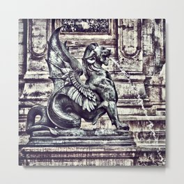 PARIS - Latin Quarter: Place St-Michel - La Fontaine St. Michel Metal Print