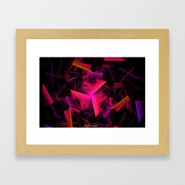 Falling House Of Cards Framed Art Print