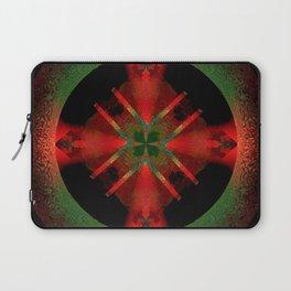 Spinning Wheel Hubcap in Scarlet Laptop Sleeve