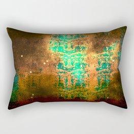 Old World Map Snake Skin Rectangular Pillow