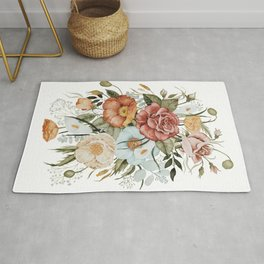 Roses and Poppies Rug