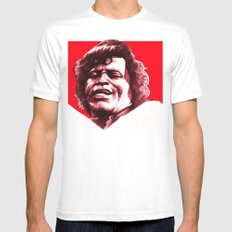 James Brown MEDIUM White Mens Fitted Tee