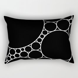 Geometric Abstract - Circles (White) Rectangular Pillow