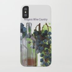 niagara wine country / grapes  / digital painting iPhone X Slim Case