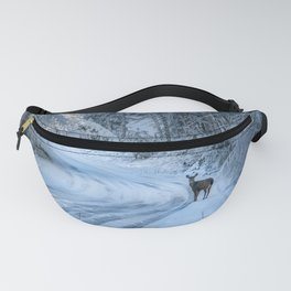 Winter Wildlife II - Deer Fawn Forest Adventure Nature Photography Fanny Pack