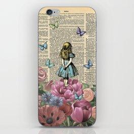 Alice In Wonderland Magical Garden iPhone Skin