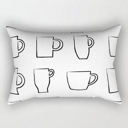 Mug Assortment Rectangular Pillow