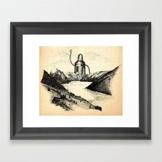 A Visitor From The North Framed Art Print