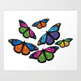 Flying Colors Art Print
