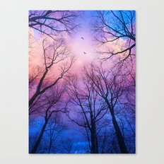 A New Day Will Dawn  (Day Tree Silhouettes) Canvas Print