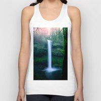 waterfall Tank Tops featuring Waterfall by Ian Bevington