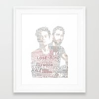 sterek Framed Art Prints featuring STEREK by Amélie Store