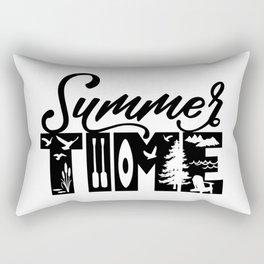 Summer TIME at the Lake Black Rectangular Pillow