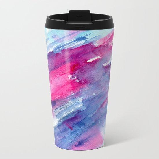 Melting colors || watercolors Metal Travel Mug