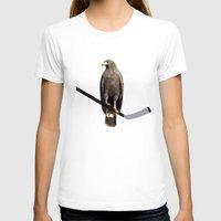 blackhawks T-shirts featuring Polyhawk on Black by fohkat