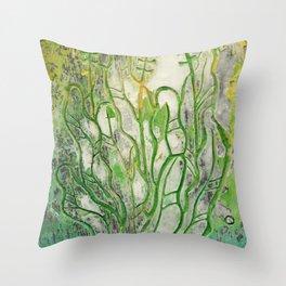 Summer Herbs Throw Pillow