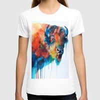 bison T-shirts featuring Bison by Slaveika Aladjova