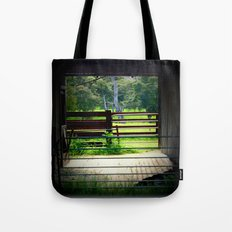 Looking through an old cattle Shed Tote Bag