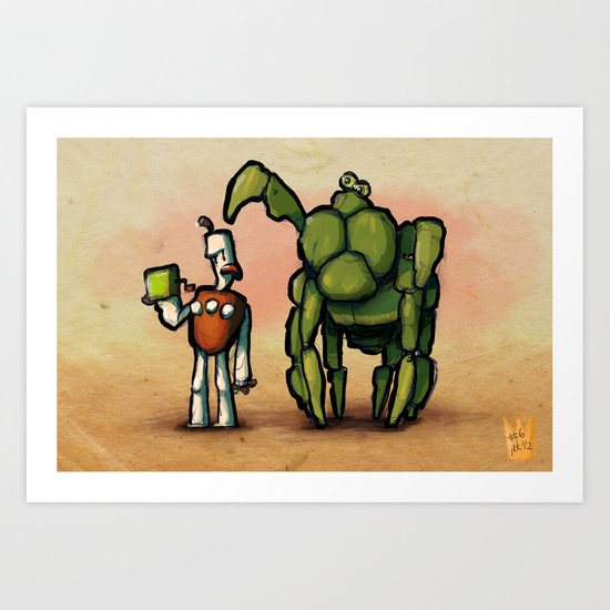 Use Verb on Noun #6: The Neverhood Art Print