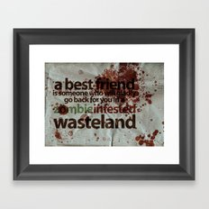 Zombie Infested Wasteland Framed Art Print
