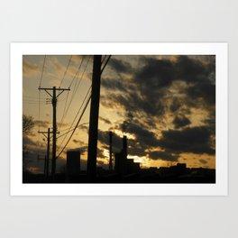 combustion sky Art Print