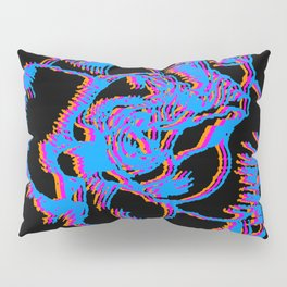 Glitch gardenia - primaries (black) Pillow Sham