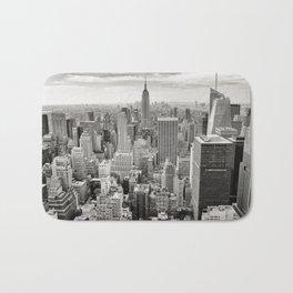 New York City black and white NYC skyline Empire State Building Big Apple skyscraper photograph Bath Mat