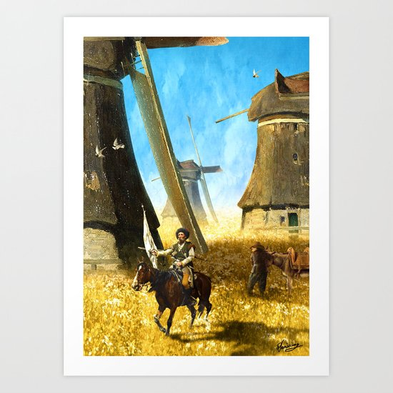 Giants on the Plains Art Print