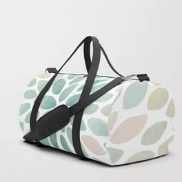 Floral Bloom, Abstract Watercolor, Coral, Peach, Green, Floral Prints Duffle Bag