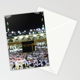 Hajj - Kaaba Stone - Muslim - the ancient sacred stone building towards which Muslims pray Stationery Cards
