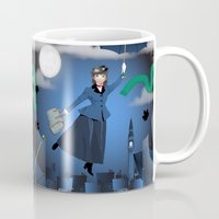 mary poppins Mugs featuring Mary Poppins by Vannina