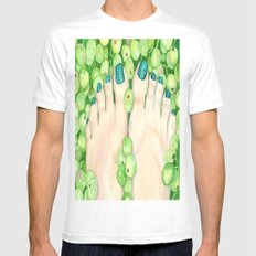 Green Grapes and Pedicure White Mens Fitted Tee MEDIUM
