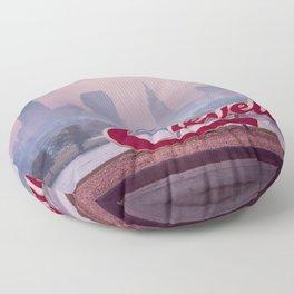 Homesick - Cleveland Skyline Floor Pillow