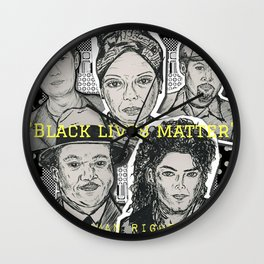 (Human Rights - Black Lives Matter) - yks by ofs珊 Wall Clock
