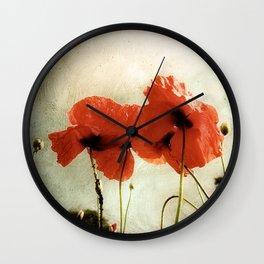 Deux Coquelicots Wall Clock