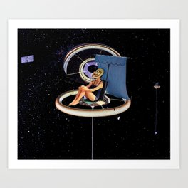 Chillin at the Space Station Art Print
