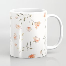 Watercolor Floral Pattern Coffee Mug
