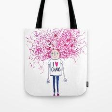 I love Chaos Tote Bag