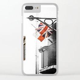 Union Jack/Flag Clear iPhone Case