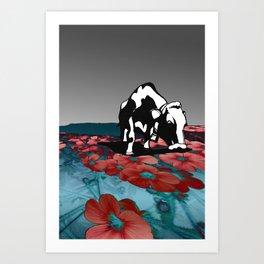 Pink Graze Art Print