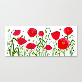 Flower#1 - Red Poppies Canvas Print