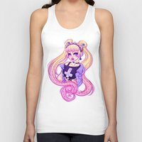 pastel goth Tank Tops featuring Pastel Goth Usagi (Glasses OFF) by Gunkiss