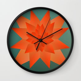 Origami Forest Birds  Wall Clock