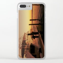 Yacht Sunset Clear iPhone Case