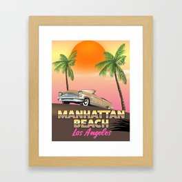 Manhattan beach Los Angeles Framed Art Print